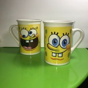 Pair of Spongebob Squarepants hot chocolate mugs